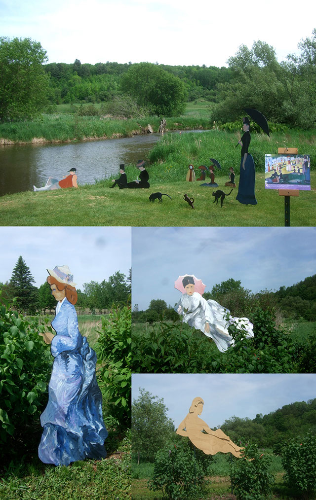 Photos of French Painters on Mill Creek, Lilac Festival Installation, 2012
